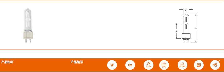 管型陶瓷金卤灯 POWERBALL® HCI®-T 35W/50W/70W/100W/150W