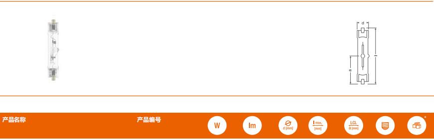 双端陶瓷金卤灯 POWERBALL® HCI®-TS 70W/150W