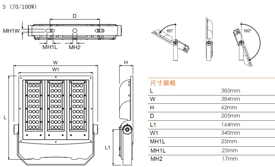 欧司朗 LED大功率泛光灯SIMPLITZ